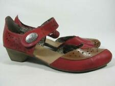 Rieker Red Leather Mary Jane Women size 40 US 8.5-9