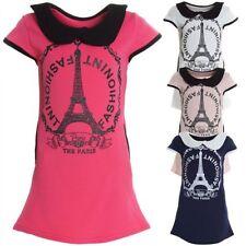 Kurzarm Mädchenkleider aus Mischgewebe