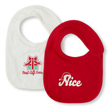 NWT Children's Place Infant CHRISTMAS BIBS - Set of 2