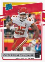 2020 DONRUSS RATED ROOKIE RC CLYDE EDWARDS-HELAIRE KANSAS CITY CHIEFS - E2127