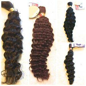 100% HUMAN HAIR FRENCH BULK -  LA TREND 14, 16, 18, 20 Inches WET and WAVY