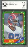 1986 topps #388 ANDRE REED buffalo bills rookie card BGS BCCG 10
