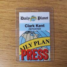 Daily Planet Identification Badge -clark Kent Reporter Press Passe