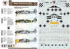 1/72 FOCKE-WULF FW 190A-3/4/5 Stab I./JG 1 JG 51 (Luftwaffe) Eagle Strike Decalcomanie