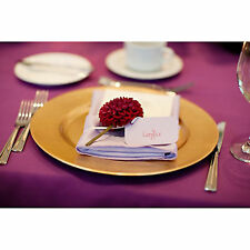 Set Of 6 Gold Lacquer Decorative Charger Dinner Table Under Plate Wedding Mat