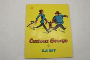 Curious George by H.A. Rey Paperback Book (1967 Printing) 4th print
