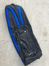 GB - PADDED GOLF CLUB, WHEELED AIR TRAVEL CASE / STRAPPED BAG - BLACK/BLUE