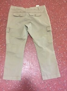 Sisley Beige Cropped Cargo Combat Trousers Size 14