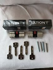 2 keyed alike Ultion Cylinders with 5 keys