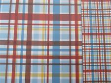 "12""X12"" Scrapbook Paper Double Sided Tin Soldier Blue Red Check"
