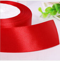 Double faced Satin Ribbon 25 yards Red Gifts Decor DIY 2.5cm Width