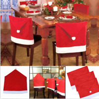 Party  Christmas   Decoration  Table  Red Hat Decor  Dinner  Chair Cover Clause