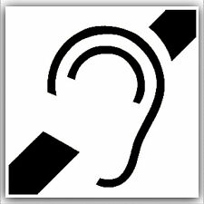 Hard of Hearing Induction Loop Sticker-Aid Sign-Disabled,Deaf-Design without T