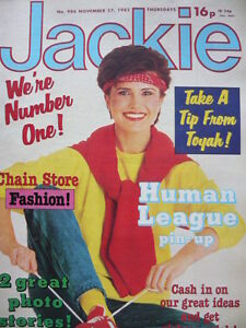 JACKIE MAGAZINE 27TH NOV 1982 - THE HUMAN LEAGUE POSTER!!