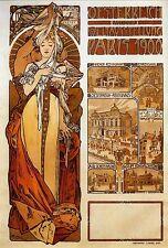 Austria by Alphonse Mucha LARGE A3 Poster Picture Art Nouveau & FREE Print NEW