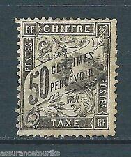 TIMBRE TAXE - 1881 YT 20 - 50 c. noir - COTE 240,00 €