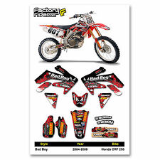 2004-2009 HONDA CRF 250 Bad Boy Motocross Graphics Dirt Bike Decal Sticker Kit