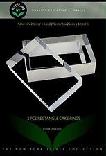 NewlineNY Stainless Steel 3 Sizes Rectangular Molding Forming Layering Cake Ring