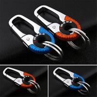 Keychain Key Ring Hook Outdoor Stainless Steel Buckle Carabiner Climbing Random