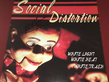 SOCIAL DISTORTION SIGNED VINYL LP MIKE NESS WHITE LIGHT WHITE HEAT PROOF