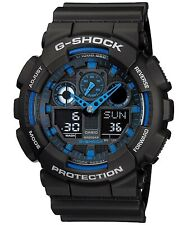 Casio Men's G-Shock GA100-1A2 Ana-Digi Speed Indicator Black Dial Watch