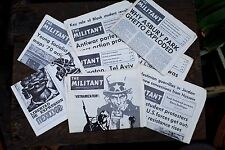 "Vintage Collectible Newspaper ""The Militant"" 8 Issues from the 1970s"