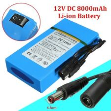 12800 DC 12V 8000mAh Rechargeable Portable Super Li-ion Battery For CCTV Camera