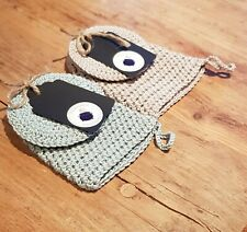 1 Crochet Face/Body mitt &2 Scrubbies, Bamboo Yarn, Makeup remover, Soap holder