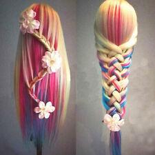 Beauty Salon Human Hair Mannequin Practice Training Head Hairdress lsL.ji
