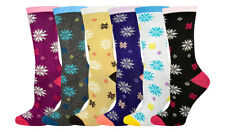 Women's Value 6-Pack Crew Socks, Snowflake Allover