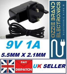 9V AC/DC UK Power Supply Adapter Safety Charger Plug Converter Universal