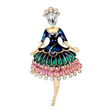 Banquet Weddings Brooch Gifts Jewelry Can Enamel Princess Ballet Girl Brooch Pin