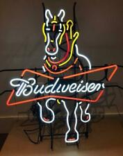 "New Budweiser Clydesdale Horse Neon Light Sign 24""x20"" Beer Bar Real Glass Lamp"