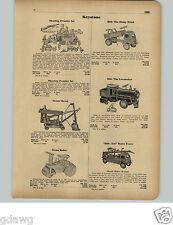 1951 PAPER AD Keystone Ride Em Dump Truck Locomotive Pump Truck Fire Water Tower