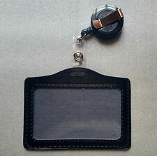 ID CARD HOLDER BADGE REEL OYSTER SECURITY RETRACTABLE PHOTO IDENTITY PASS