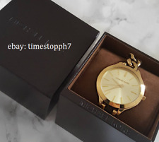 Michael Kors Slim Runway Twist Gold-tone Champagne Dial MK 3222 Ladies Watch