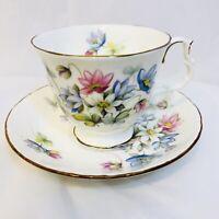Royal Albert Bone China Sonnet Series BYRON Tea Cup and Saucer Set England