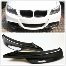 2x Carbon Fiber Front Bumper Splitter Lip For BMW E90 335i 328i 325i LCI M Tech