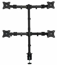 """Quad LCD Desktop Monitor Laptop Table Mount C-Clamp Mount Adjustable Up to 27"""""""