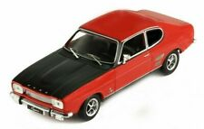 IXO MODELS- FORD CAPRI 1700 GT RED WITH BLACK BONNET CIRCA 1970 1:43 SCALE.