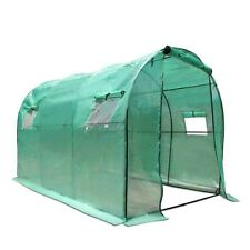 NEW 3M x 2M Spacious Sturdy Steel Frame Garden Greenhouse w/ Green PE Mesh Cover