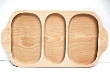 Madera Placa con 3 secciones, Bandeja con mango madera de haya, 48.3cmwide