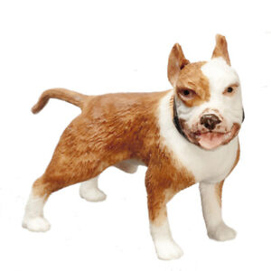 DOLLS HOUSE 1/12 SCALE QUALITY PIT BULL/BOXER DOG RESIN FIGURE