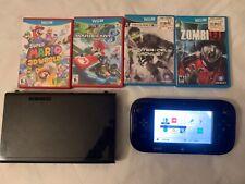 Nintendo Wii U 32GB Console w/ Gamepad - Black 4 GAME BUNDLE ✅ ✅ ✅