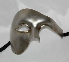 TOP QUALITY ANTIQUE SILVER HALF FACE PHANTOM Venetian Masquerade Party Mask