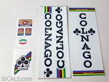 COLNAGO MEXICO white panel bicycle decal set - ON CHROME FOIL free shipping