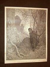 Incisione di Gustave Dorè del 1884 Blondello e Riccardo Cuor di Leone Crociata