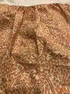 Lauren Ralph Lauren San Luca Coral Terracotta Scroll Queen Bed skirt Euc