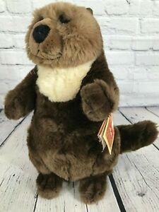 "NWT Lou Rankin Friends Oliver Stuffed Plush Animal Toy Otter Soft 14"" Dakin Tags"