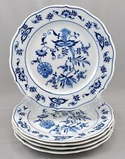 5 Blue Danube Japan Bread Butter Plates Blue Onion Pattern Rectangle Mark